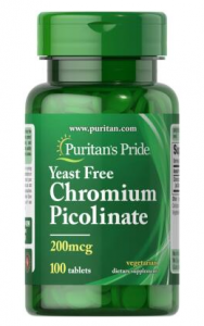 Puritan's Pride Chromium Picolinate 200 mcg 100 табл