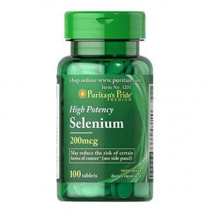 Puritan's Pride Selenium 200mg 100 табл