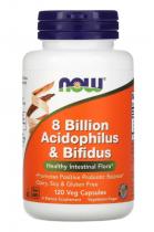 Now Foods 8 Billion Acidophilus @ Bifidus 60 капс.