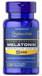 Puritan's Pride Melatonin 5 mg 120 табл