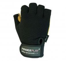 Перчатки MENS 1574 черно-коричневые Power Play