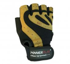 Перчатки MENS 1584 GEL черно-коричневые Power Play