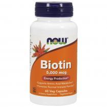Biotin 5,000 mcg 60 капс Now Foods