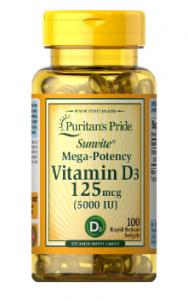 Puritan's Pride Vitamin D-3 (5.000 IU) 100 капс