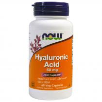 Hyaluronic Acid 50 мг 60 капс Now Foods