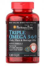 Puritan's Pride Triple Omega 3-6-9 120 табл