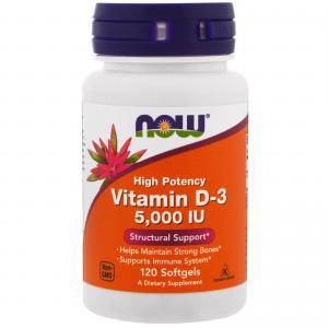 Vitamin D-3 5000 IU 120 капс Now Foods