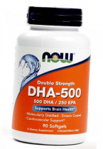Now Foods DHA 500mg 90 softgels