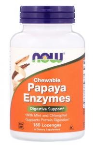 Now Foods Papaya Enzymes 180 пастилок