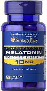 Melatonin 10 mg 60 капс Puritans Pride