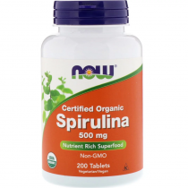 Now Foods Spirulina 500 мг 200 табл