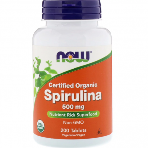 Now Foods Spirulina 500 мг 200 табл