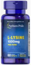 Puritan's Pride L-Lysine 1000 mg  60 капл