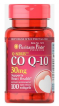 Puritan's Pride Co Q-10 30 mg  100 softgels