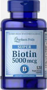 Puritan's Pride Biotin 5000 mcg 120 капс