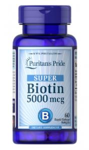 Puritan's Pride Super Biotin 5000 mcg 60 капс