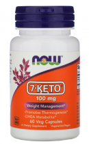 Now Foods 7-KETO 100mg, 60 caps