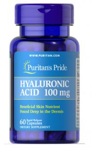 Puritan's Pride Hyaluronic Acid 100 mg 60 капс