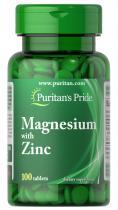 Magnesium Zinc  100 табл Puritans Pride