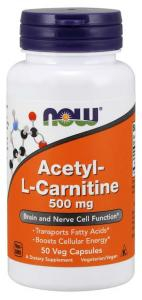 Now Foods Acetyl L-carnitine500mg 50 caps