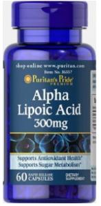Puritan's Pride Alpha Lipoic Acid 300 мг 60 softgels