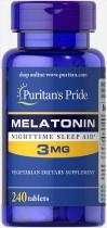 Puritan's Pride Melatonin 3 mg 240 табл
