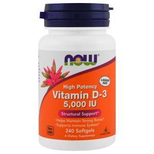Vitamin D-3 5000 IU 240 капс Now Foods
