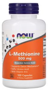Now Foods L-Methionine 500 мг 100 капс