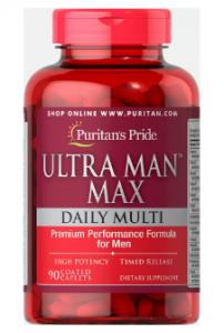 Puritan's Pride Ultra Man Max 90 каплет