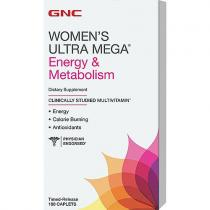Women's Ultra Mega Energy and Metabolism 180 кап GNC