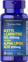 Acetyl L-Carnitine HCL 400 мг Alpha Lipoic Acid 200мг 30 капс Puritans Pride
