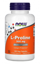 Now Foods L-Proline 500 мг 250 таб