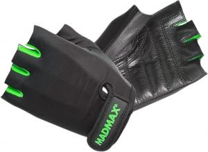 Перчатки Rainbow MFG-251 черно-зеленые Mad Max