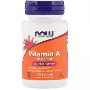 Now Foods Vitamin A 10.000 IU 100 капс