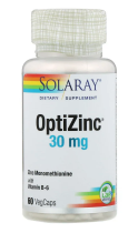 OptiZinc 30 mg, 60 вег. капс. ,Solaray