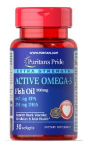 Puritan's Pride Active Omega-3 900 mg 30 softgels