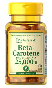 Puritan's Pride Beta-Carotene 25000IU  100 softgels