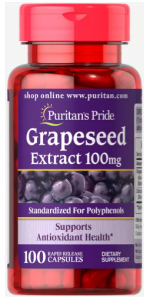 Puritan's Pride Grapeseed Extract 100 mg 100 caps