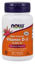 Vitamin D-3 2000 IU 240 капс Now Foods