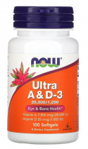 Now Foods Ultra A & D 25,000/1000IU 100 softgels