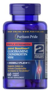 Puritan's Pride Glucosamine Chondroitin MSM Triple Strength 60 капл