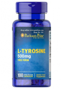 Puritan's Pride L-Tyrosine 500mcg 100 капс