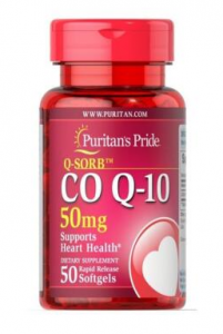 Puritan's Pride Co Q-10 50 mg  50 softgels