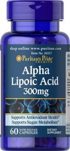 Puritan's Pride Alpha Lipoic Acid 300 мг 60 капс