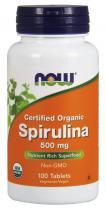 Spirulina 500 мг 100 табл Now Foods