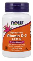 Now Foods Vitamin D-3 2000 IU 120 капс