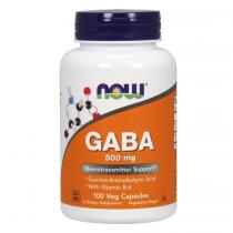 GABA 500 200 капс Now Foods