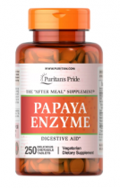 Puritan's Pride Papaya Enzyme 250 жеват. таб.