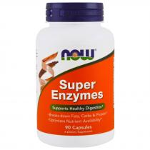 Super Enzymes 90 таб Now Foods
