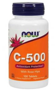Now Foods vitamin С 500 mg 100 таб